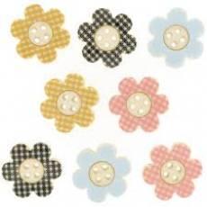 Knöpfe - Plaid Petals
