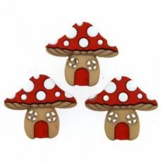 Knöpfe - Mushroom Houses