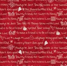The little things Little Sentiments red