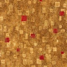 Gustav Klimt - stamps gold red