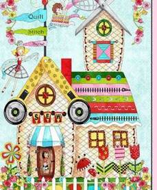 The Quilted Cottage  Panel