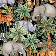 Jungle Buddies Animals & Palm Treeds