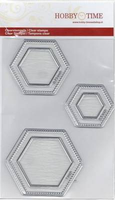 Quiltstempel Hexagon