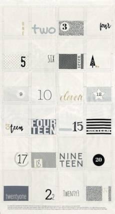 Zen Chic White Christmas Adventkalender