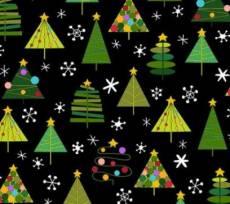 Christmas Holiday Treats Checker black trees