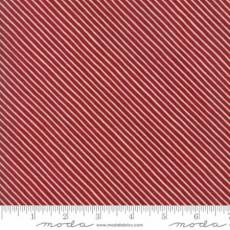 Moda Wintertide stripe red