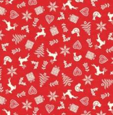 Scandi Scatter red