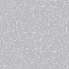 Snow House Stars grey