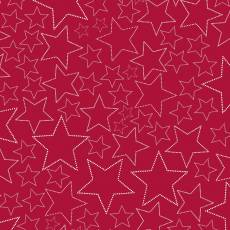 Snow House Stars red