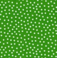 Quilters Basic dots weiss auf grün