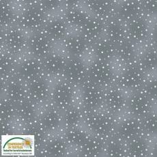 Quilters Basic twist dots grey white