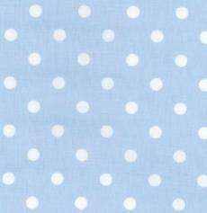 Capri hellblau weiß Dots