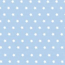 Capri hellblau weiß Stars