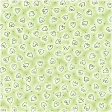Quilters Basic Herzen hellgrün