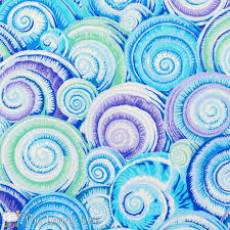 Kaffe Fassett Spiral shells skyblue