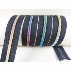 Endloreißverschluss brilliant schwarz -multicolor