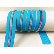 Endloreißverschluss brilliant  türkis-multicolor