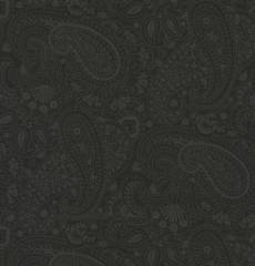 Basic black paisley