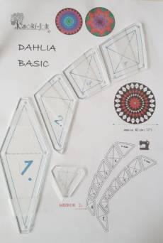Dahlie Schablonen Set