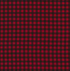 Plaid checker red black
