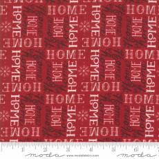 Holiday Lodge Script Red