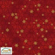 Christmas Wonders Red swirly stars