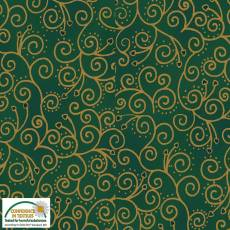 Christmas Wonders Green swirly hearts