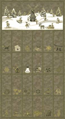Christmas Wonders Taupe Adventskalender