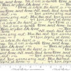 Home by Kathy script cream