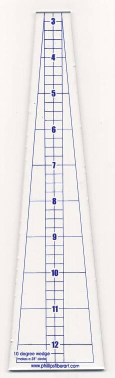 Ten Degree Ruler