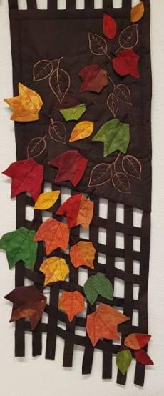 Wandquilt - Herbstblätter