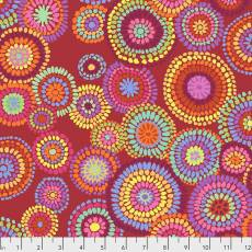Kaffe Fassett Mosaic circles red