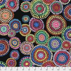 Kaffe Fassett Mosaic circles black