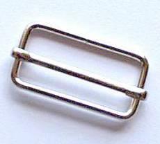 Leiterschnalle silber M