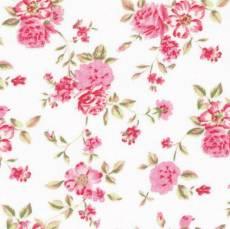 Rosenborg Blumen weiß bunt