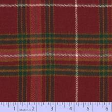 Primo plaid Flanell checker red  green