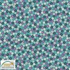 Quilters Combination fleur teal