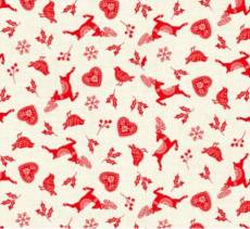 Scandi 2020 Scatter ecru red