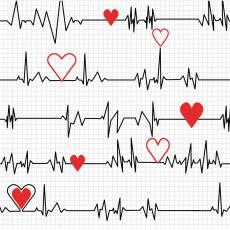 Calling nurses heartbeat white