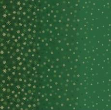 Ombre snowflake green