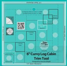 Creative Grids Non-Slip Curvy Log Cabin Ruler
