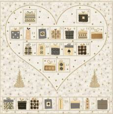 Magic Christmas Adventkalender creme hearts