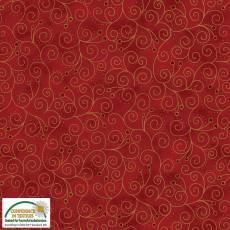 Magic Christmas red swirls