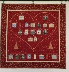 Magic Christmas Adventkalender red heart  Kit