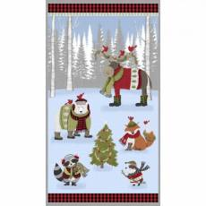 Cozy Critters Christmas panel