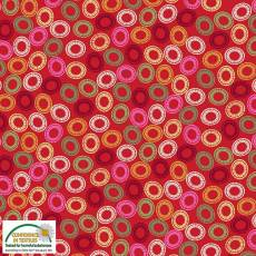 Quilters Combination swirls rot multi