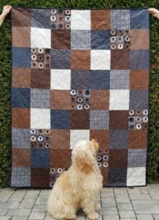 Farmhouse Sheep Quilt mit Leseknochen