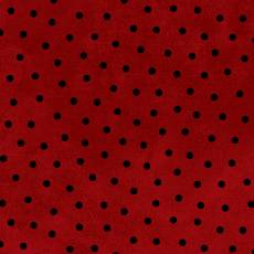 Maywood Woolies Flannel dots red