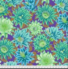 Kaffe Fassett Cactus flowers emerald