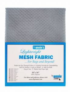 by annie Mesh fabric pewter
